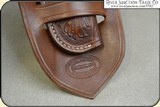 Hand tooled Holster - Mexican Double Loop Holster Copied from original in the River Junction Collection - 9 of 10