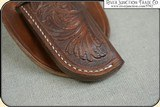 Hand tooled Holster - Mexican Double Loop Holster Copied from original in the River Junction Collection - 7 of 10