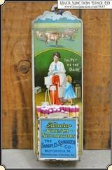 Antique Sharples Tin Litho Match Holder