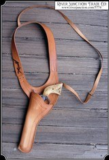 Improved 7.5 Texas Shoulder Holster Copied from original in the River Junction Collection