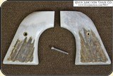 New Vaquero, Ruger Grips ~ Hand made Elk Horn w/bark two piece Grips RJT#5863 - 2 of 13