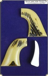 Grips ~ Model 1873 SAA - Pietta Antiqued Stag #5900 - 1 of 4
