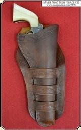 Triple loop holster for 7 1/2 & 8 inch barreled Frontier era revolvers RJT#5898 - $119.00
