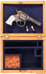 HARD TO FIND CASED ENGRAVED REMINGTON RIDER POCKET CONVERSION REVOLVER IN .32 RIMFIRE