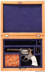 HARD TO FIND CASED ENGRAVED REMINGTON RIDER POCKET CONVERSION REVOLVER IN .32 RIMFIRE - 2 of 5