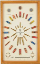 ELEY SPORTING AMMUNITION DISPLAY BOARD