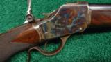 DELUXE WINCHESTER MODEL 1885 HIGH WALL RIFLE IN .30 U.S. - 1 of 13