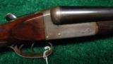 W. RICHARDS DOUBLE BARREL HAMMERLESS 12 GAUGE SHOTGUN