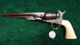 FACTORY ENGRAVED 1860 COLT ARMY REVOLVER - 4 of 13