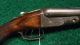 DOUBLE BARREL F GRADE PARKER DAMASCUS 12 GAUGE HAMMERLESS SHOTGUN