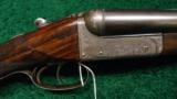 W.C. SCOTT AND SON, LONDON, 12 GAUGE SIDE BY SIDE HAMMERLESS SHOTGUN
