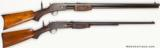VERY INTERESTING PAIR OF FACTORY ENGRAVED COLT PUMP ACTION LIGHTNING RIFLES