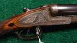 T. BLAND AND SONS, LONDON, HAMMERLESS SIDE BY SIDE SHOTGUN