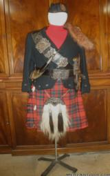 FINE HIGH QUALITY SCOTTISH VICTORIAN ERA DRESS REGALIA