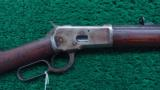 WINCHESTER 1892 RIFLE WITH SPECIAL ORDER HALF OCTAGON BBL