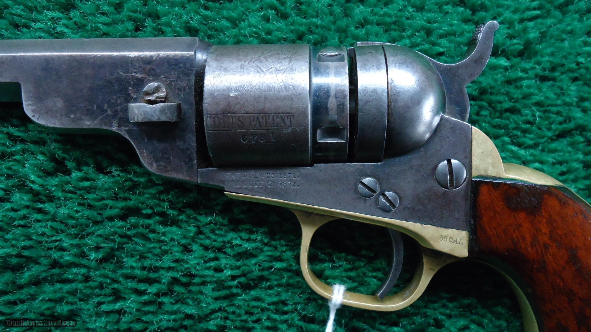colt 1862 pocket navy cartridge conversion revolver