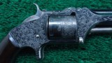 CASED FACTORY ENGRAVED SMITH & WESSON NUMBER 2 ARMY