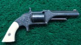 CASED SMITH & WESSON ENGRAVED FIRST MODEL REVOLVER