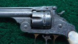 NIMSCHKE ENGRAVED EXHIBITION GRADE SMITH & WESSON 1ST MODEL DOUBLE ACTION FRONTIER REVOLVER - 3 of 15