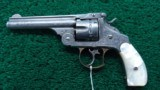 NIMSCHKE ENGRAVED EXHIBITION GRADE SMITH & WESSON 1ST MODEL DOUBLE ACTION FRONTIER REVOLVER - 4 of 15