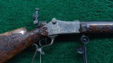 EXHIBITION GRADE MARTINI ACTION SCHUETZEN RIFLE BY STIEGELE