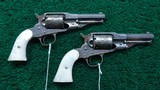 EXTREMELY RARE PAIR OF REMINGTON NEW MODEL POLICE CONVERSION REVOLVERS