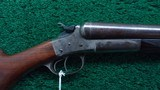 SERIAL NUMBER 7 REMINGTON HEPBURN DOUBLE BARREL SHOTGUN
