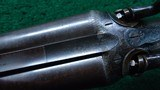 CASED ALEXANDER HENRY DOUBLE BARREL 12 GAUGE SHOTGUN - 10 of 22
