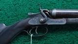 CASED ALEXANDER HENRY DOUBLE BARREL 12 GAUGE SHOTGUN
