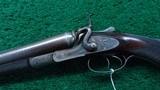 CASED ALEXANDER HENRY DOUBLE BARREL 12 GAUGE SHOTGUN - 2 of 22