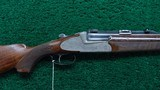AUSTRIAN MADE 2-BARREL SET OF O/U DOUBLE BARREL RIFLE