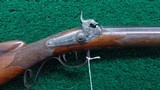 BEAUTIFUL GERMAN HALF STOCK PERCUSSION CARVED AND RELIEF ENGRAVED RIFLE