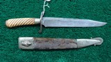 VERY EARLY UNMARKED BOWIE KNIFE