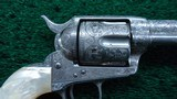 EXTREMELY RARE COLT EXHIBITION ENGRAVED PANEL NICKEL PLATED SINGLE ACTION ARMY REVOLVER