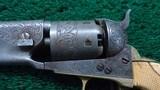 ENGRAVED COLT 1851 ROUND BARREL NAVY - 7 of 15
