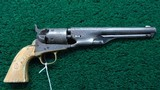 ENGRAVED COLT 1851 ROUND BARREL NAVY CALIBER 36 PERCUSSION