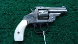 HARRINGTON & RICHARDS TOP BREAK 22 CALIBER BICYCLE PISTOL WITH 2 INCH BARREL