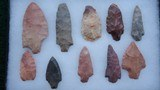 COLLECTION OF TEN SPEAR POINTS - 3 of 4