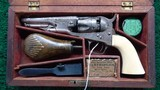 FACTORY ENGRAVED METROPOLITAN COMPANY CASED POLICE MODEL REVOLVER CALIBER 36