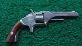 SMITH & WESSON 22 CAL TIP-UP MODEL NO.1 SECOND ISSUE REVOLVER - 1 of 10