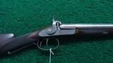 BEAUTIFULLY MADE DOUBLE BARREL 14 GAUGE PERCUSSION SHOTGUN BY JOHN BLANCH - 2 of 25