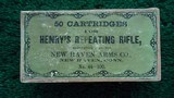 FANTASTIC BOX OF HENRY REPEATING RIFLE CARTRIDGES - 9 of 17