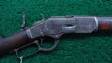 WINCHESTER 1873 2ND MODEL RIFLE WITH SCARCE EXTRA HEAVY WEIGHT BARREL