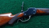 DELUXE SCHUETZEN DOUBLE SET TRIGGER WINCHESTER RIFLE - 1 of 17