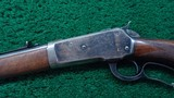 WINCHESTER MODEL 1886 SEMI DELUXE PISTOL GRIP CHECKERED LIGHT WEIGHT RIFLE IN CALIBER 33 WCF - 2 of 19