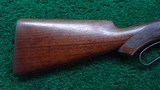 WINCHESTER MODEL 1886 SEMI DELUXE PISTOL GRIP CHECKERED LIGHT WEIGHT RIFLE IN CALIBER 33 WCF - 17 of 19