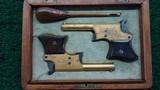 cased engraved pair of remington vest pocket pistols