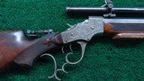 VERY FINE STEVENS POPE FACTORY ENGRAVED TARGET RIFLE - 1 of 22