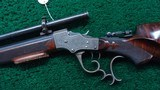 VERY FINE STEVENS POPE FACTORY ENGRAVED TARGET RIFLE - 2 of 22