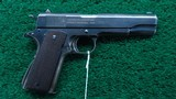 RARE COLT 1911 FROM ARGENTINE 1941 NAVY CONTRACT with the Swartz Safety device - 1 of 21